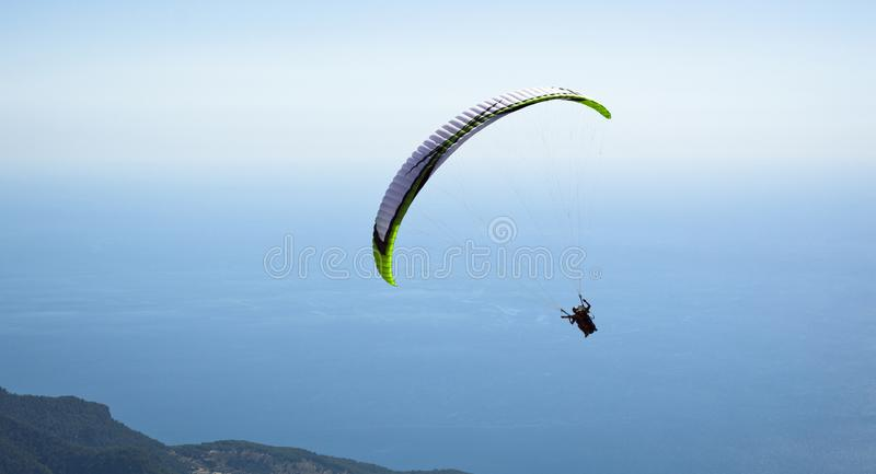 Parachuting. Photo Of Parachuting at Oludeniz royalty free stock photo