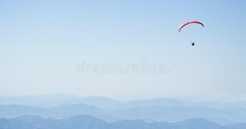 Parachuting. Photo Of Parachuting at Oludeniz at Fethiye royalty free stock image