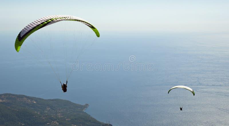 Parachuting. Photo Of Parachuting at Oludeniz royalty free stock photography