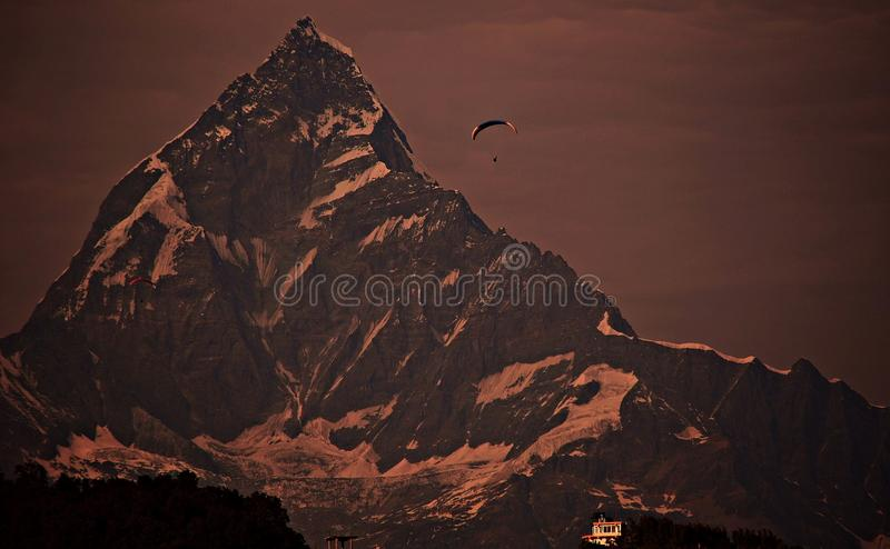 Parachuting Over Mountain Range Free Public Domain Cc0 Image