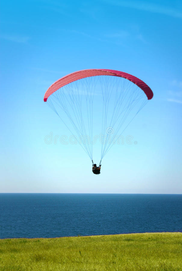Parachuting. On the winds a lovely summer day royalty free stock images