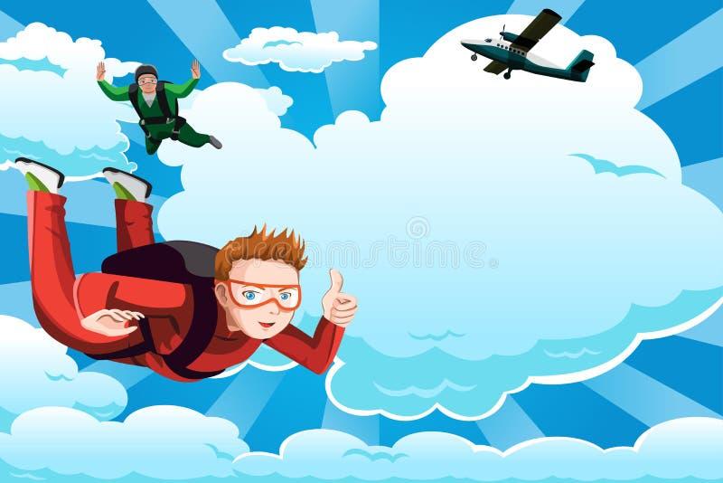 Parachutisme illustration libre de droits