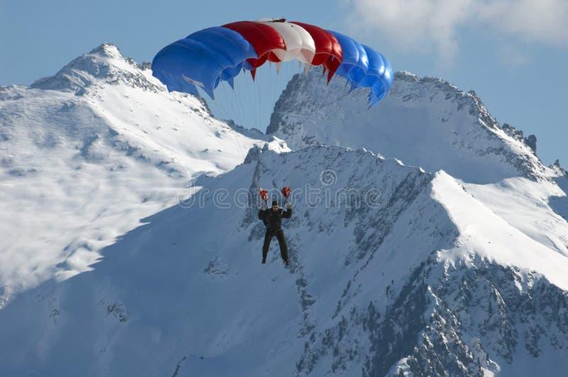 Parachutist immagine stock