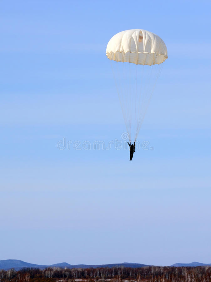 Parachutist foto de stock royalty free