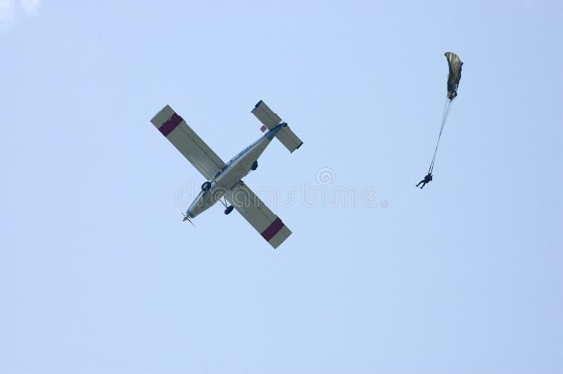 Parachutist fotografia de stock