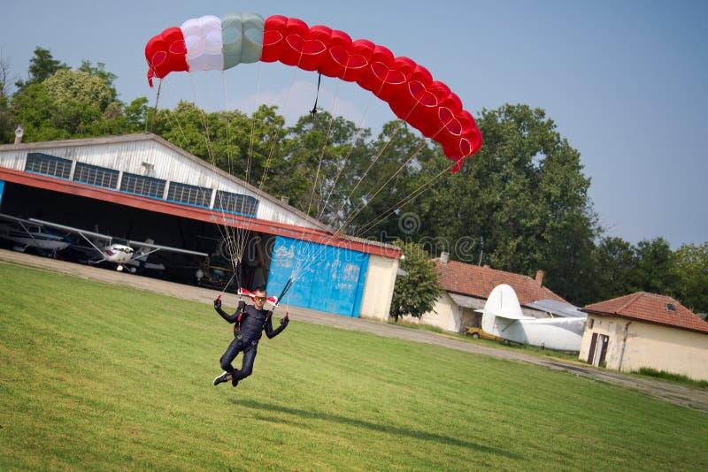 Parachutist fotografia stock