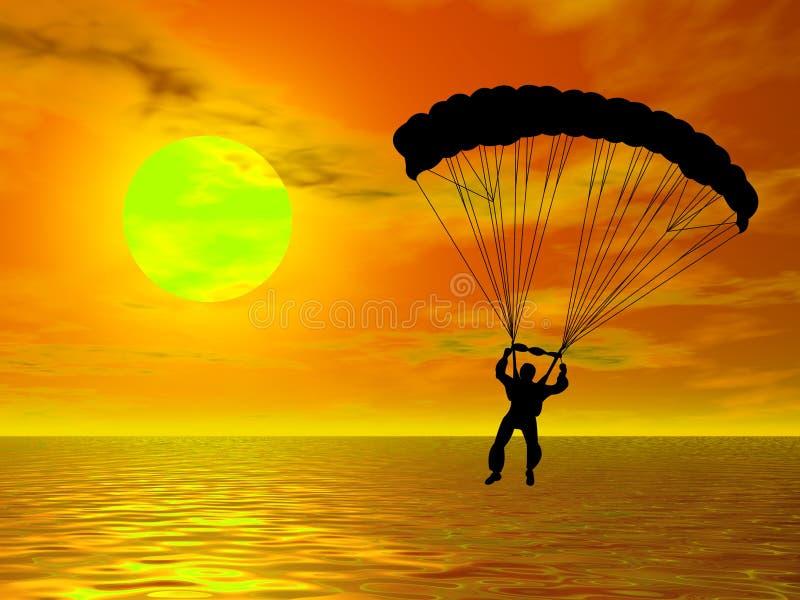 Parachutist illustrazione vettoriale