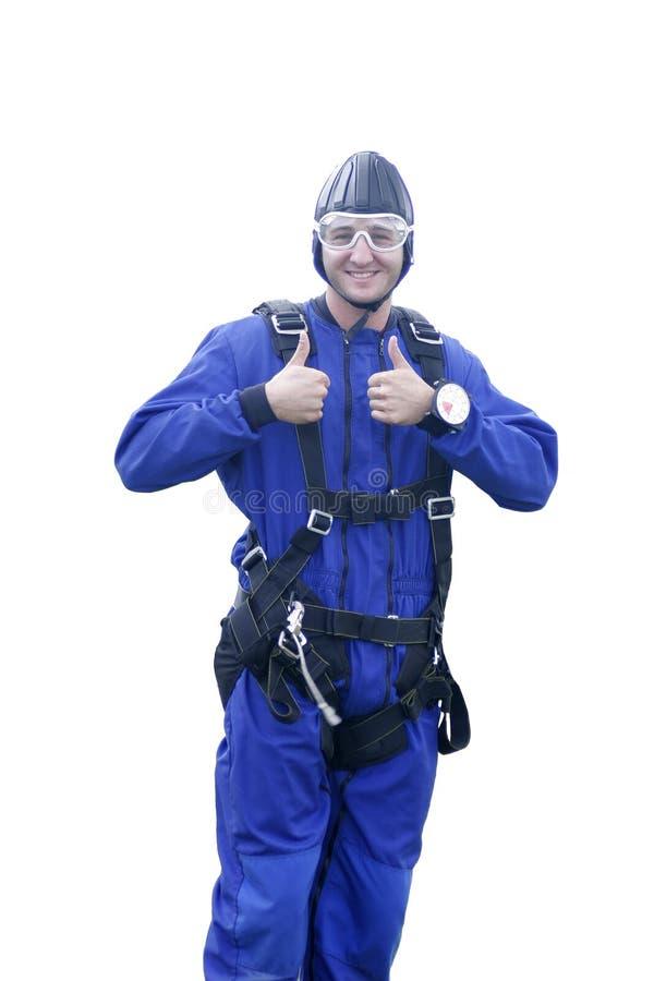 Parachutist fotografie stock libere da diritti