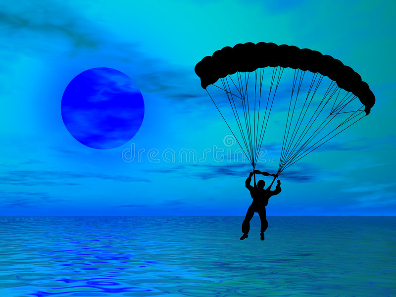 Parachutist imagens de stock royalty free