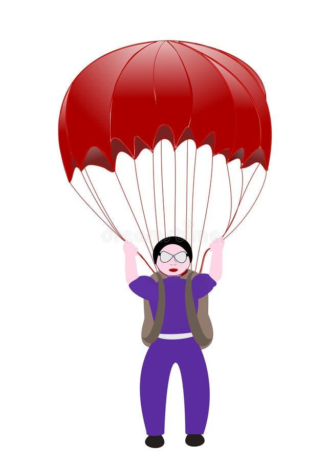 parachutist obrazy royalty free