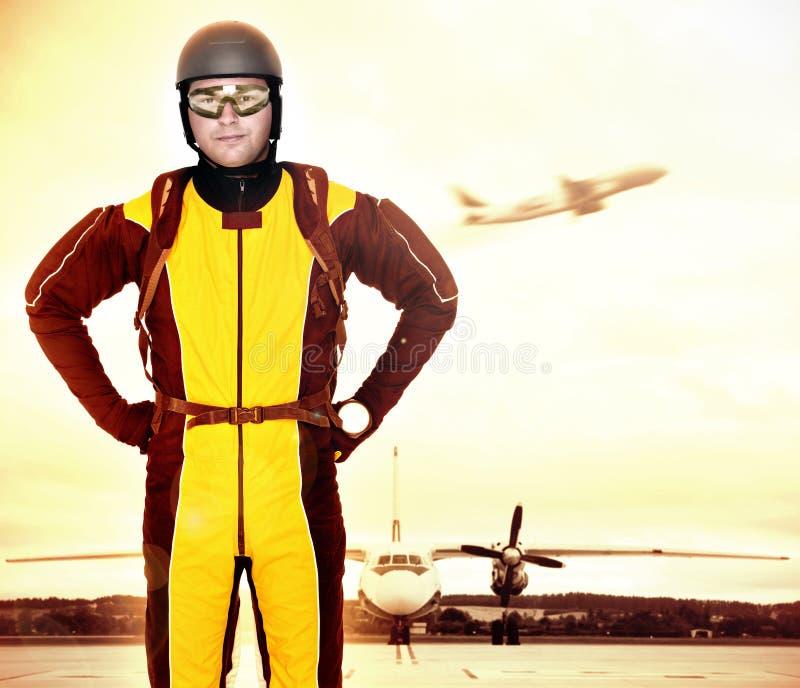 Parachutist profissional fotos de stock royalty free