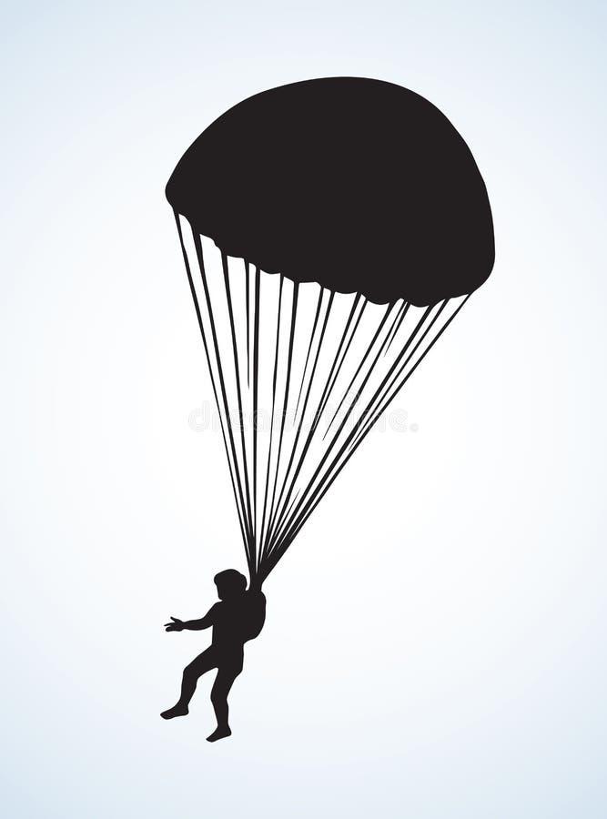 Parachutist Vectortekening stock illustratie