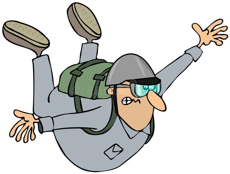 Parachutiste illustration libre de droits