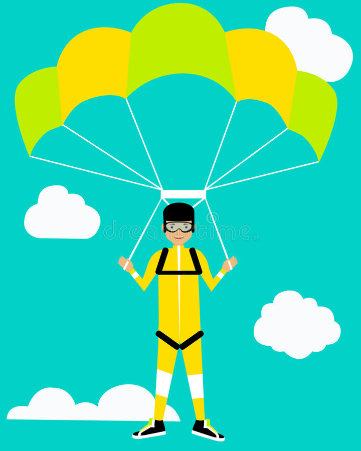 parachutiste illustration de vecteur