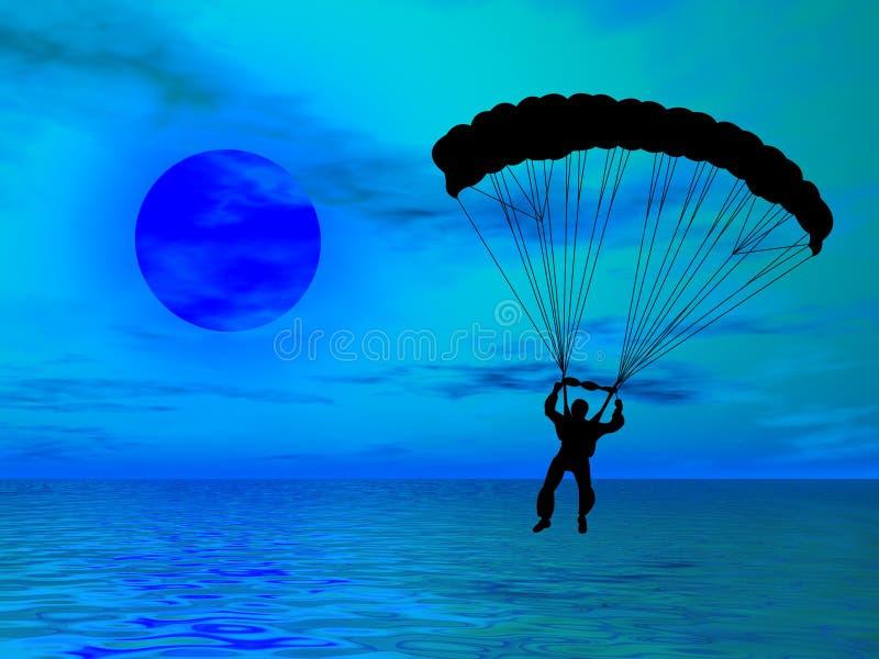 Parachutiste images libres de droits
