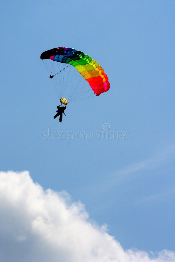 Parachutiste photo stock