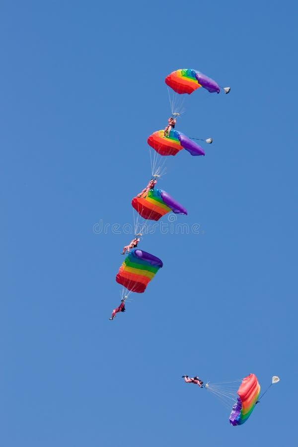 Parachutiste cinq images libres de droits