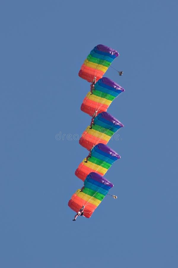 Parachutiste cinq photographie stock libre de droits