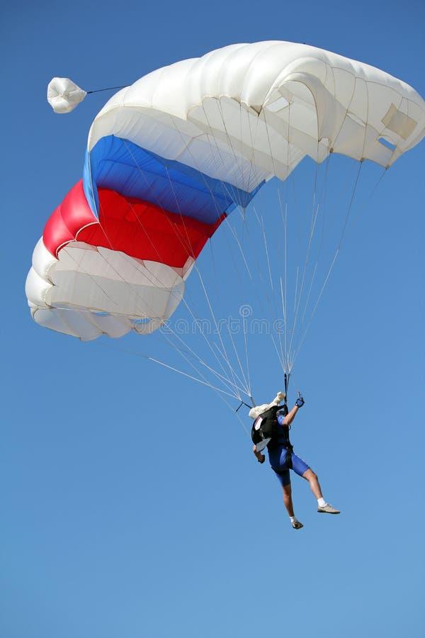 Parachutiste extrême de sport images stock