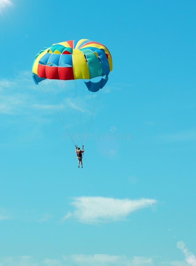 Parachutiste gras photographie stock libre de droits