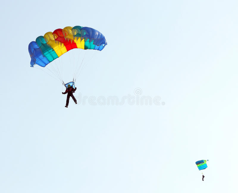 Parachutistförkläde arkivfoto