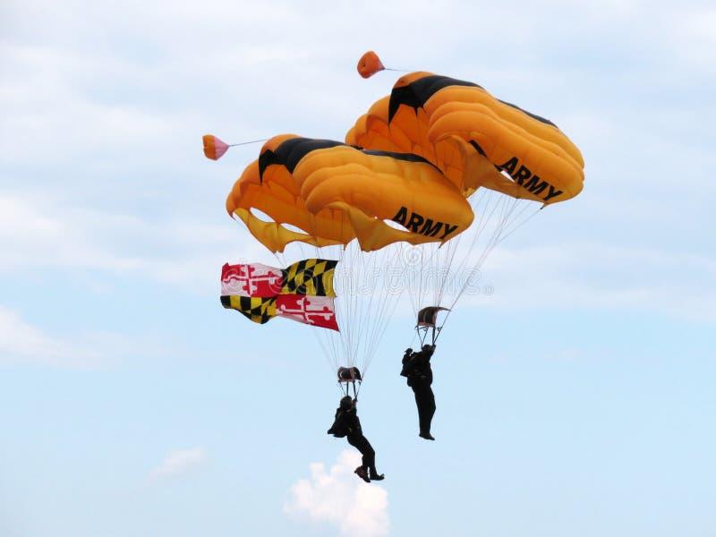 Parachutists армии США стоковые фотографии rf
