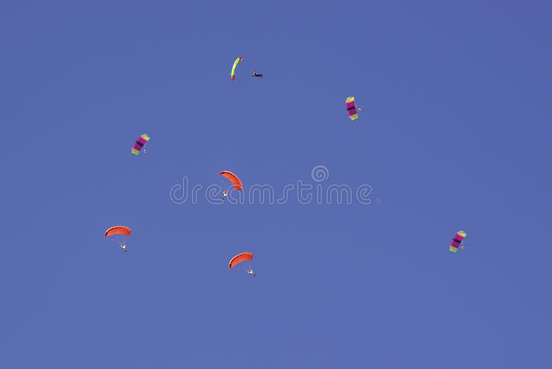 Parachutists royalty free stock images