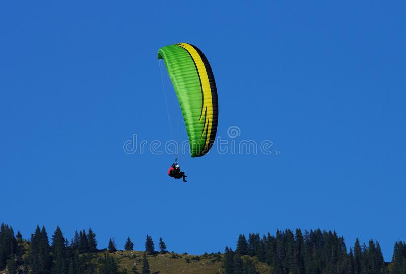 Parachutists stock image