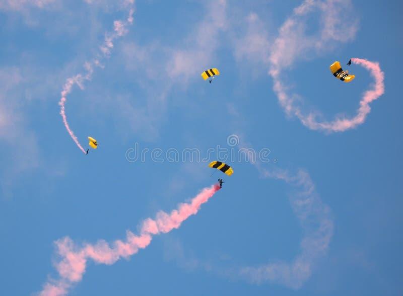 parachutists wojsk obrazy stock