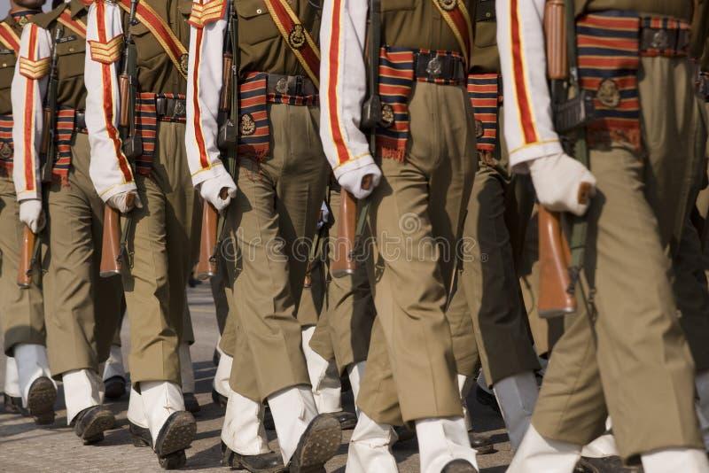 parada żołnierzy. fotografia stock