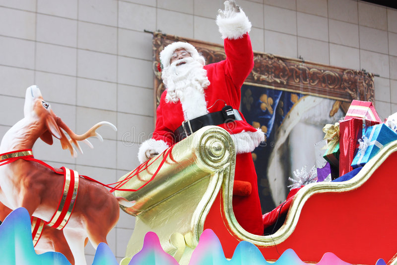 A parada 2008 de Papai Noel fotografia de stock royalty free