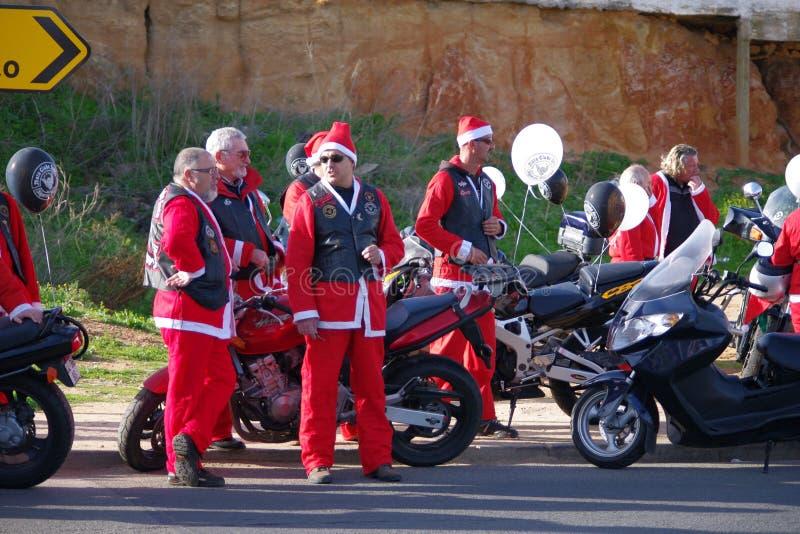 Parada 2011 da bicicleta de Papai Noel fotos de stock
