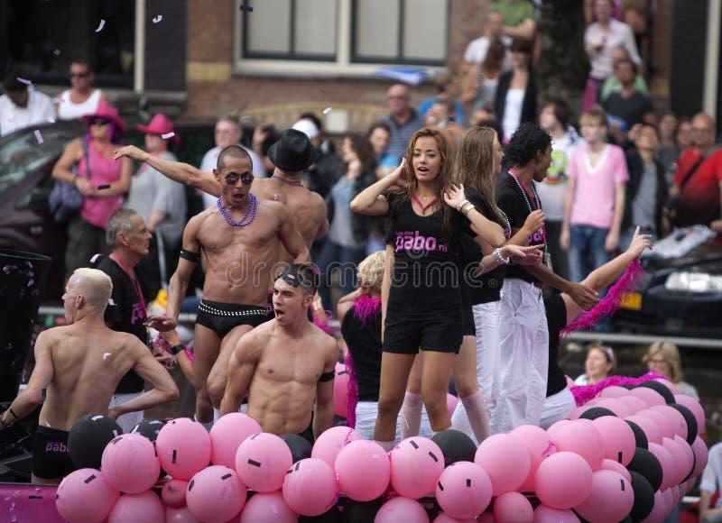 Parada 2011 do canal de Amsterdão imagens de stock