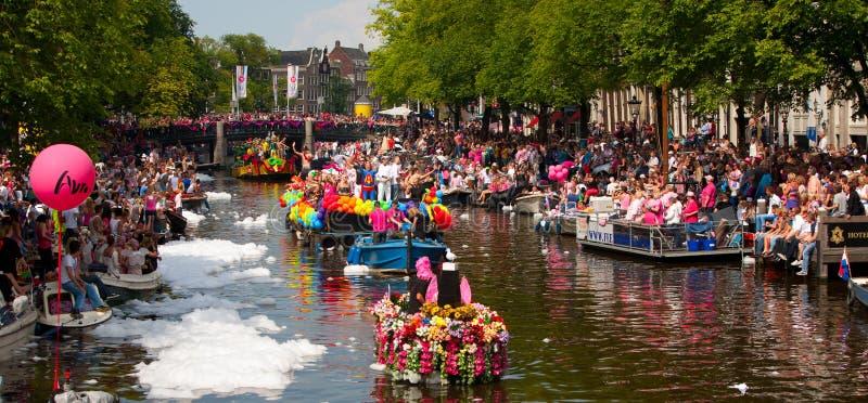 Parada 2012 do canal de Amsterdão imagem de stock