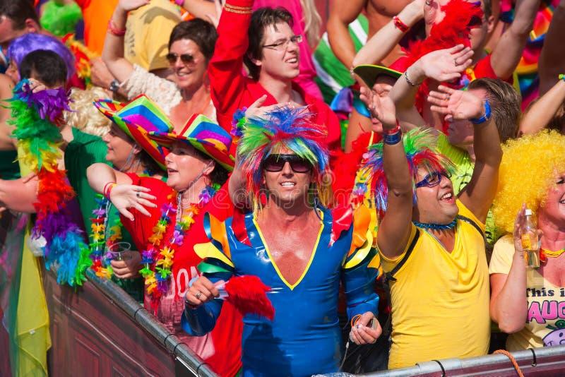 Parada 2012 do canal de Amsterdão imagens de stock royalty free