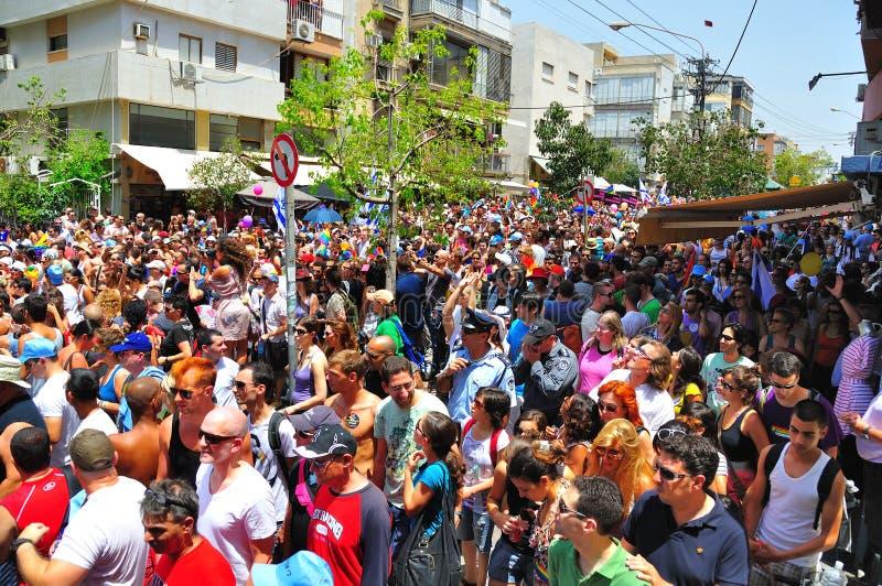 Parada alegre de Telavive 2010 fotos de stock