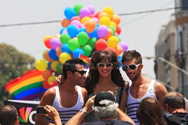 Parada alegre do orgulho em Telavive, Israel. foto de stock royalty free