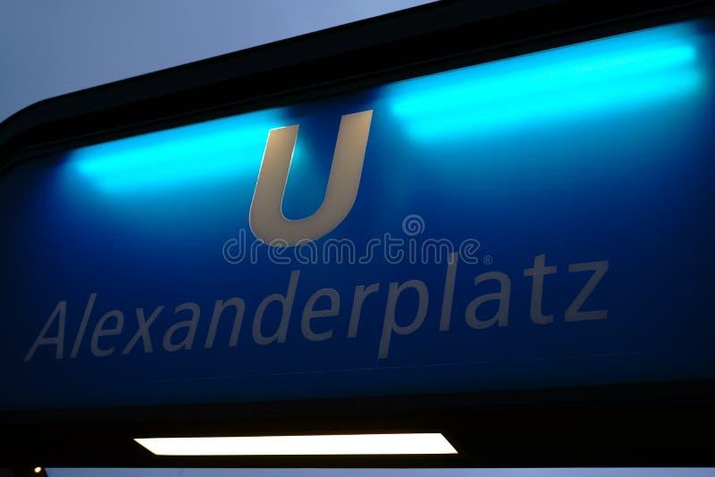 Parada Alexanderplatz del subterráneo imagen de archivo