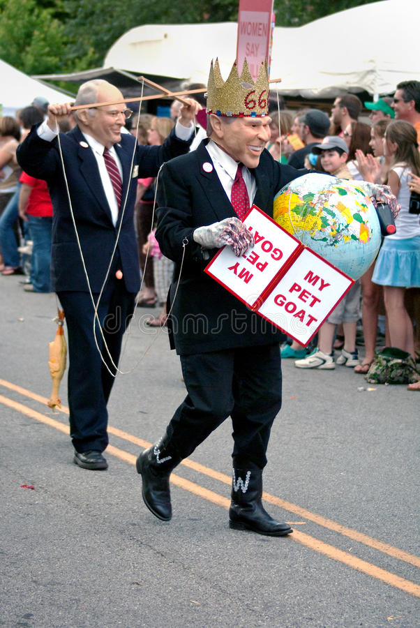 Parada Atlanta Geórgia do festival de mola do parque de Inman imagem de stock royalty free