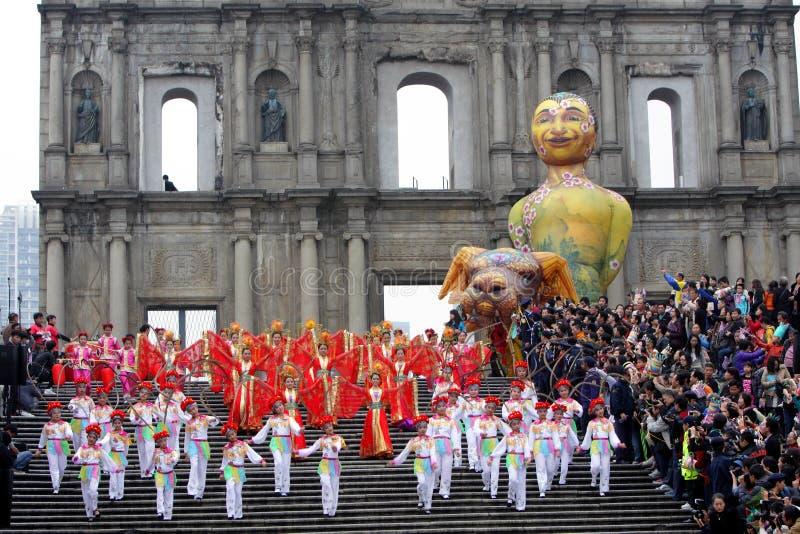 Parada através de Macao, cidade Latin 2012 foto de stock royalty free