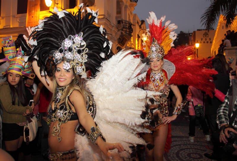 Parada através de Macao, cidade Latin 2012 imagens de stock royalty free
