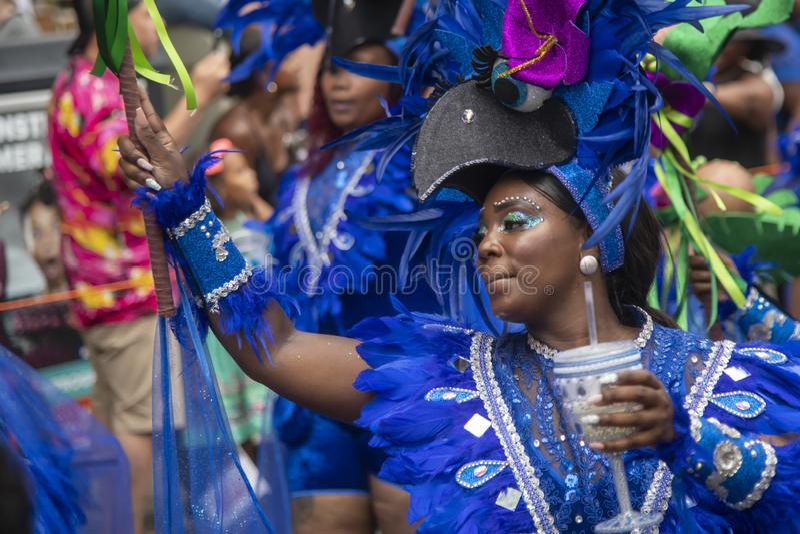 Parada 2019 carnaval do verão de Rotterdam foto de stock royalty free