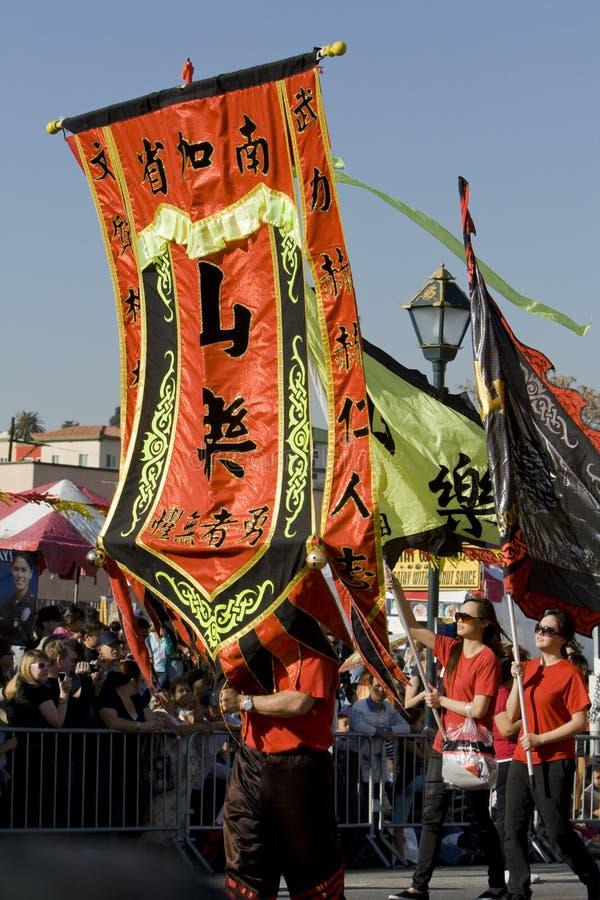 Parada chinesa do ano novo de Los Angeles 2009 foto de stock