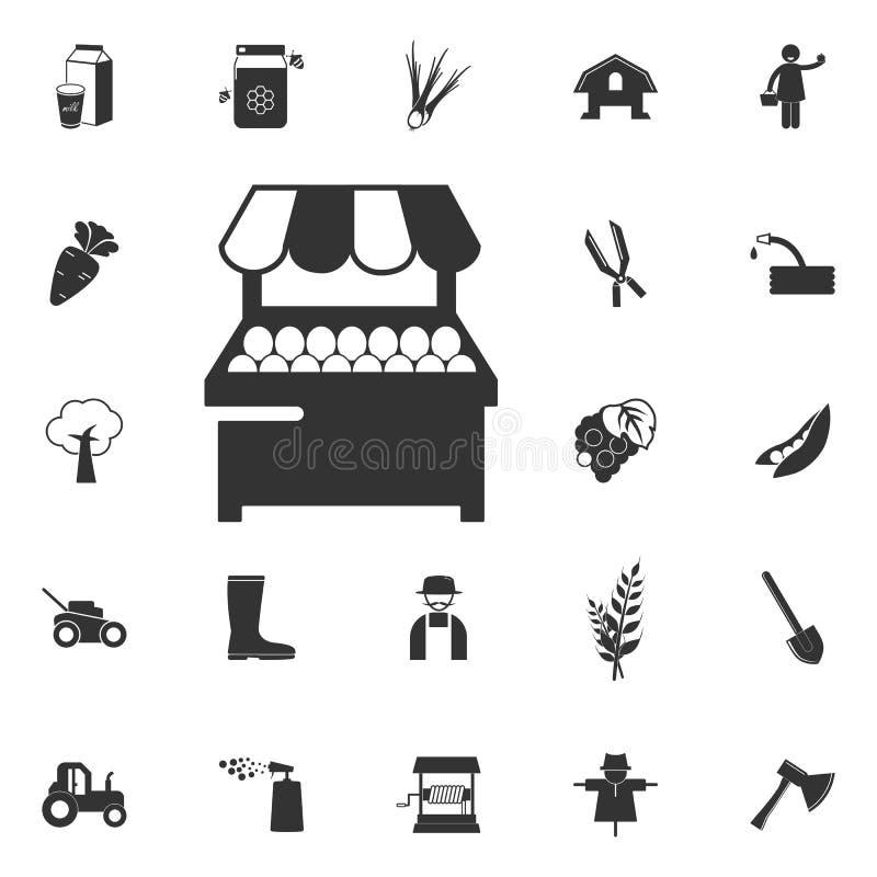 parada con el icono de la fruta Elemento de los iconos del cultivo y del jardín Prem libre illustration