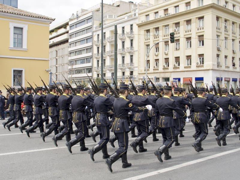Parada da escola do oficial de exército fotos de stock royalty free