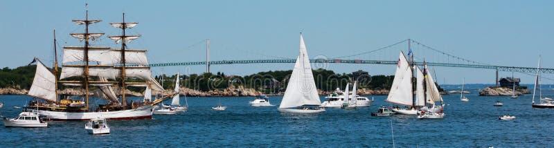 Parada da vela, Newport Rhode - console fotos de stock royalty free