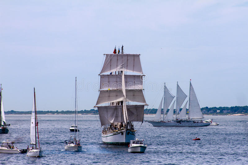 Parada da vela, Newport, RI imagens de stock royalty free