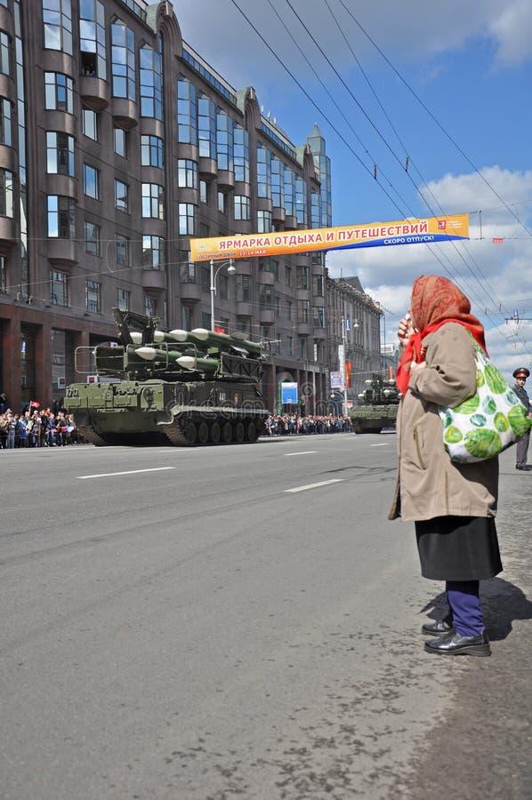 Parada da vitória de WWII, 2011, Moscovo, Rússia imagem de stock