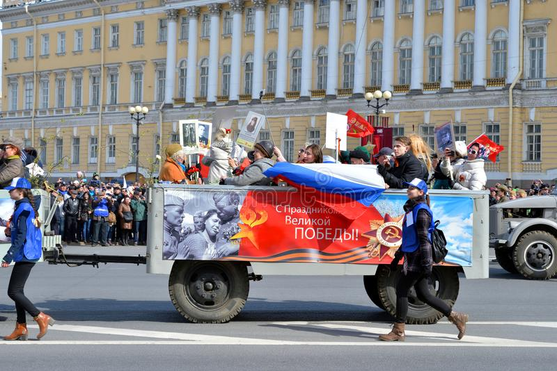 Parada da vitória em St Petersburg imagem de stock royalty free