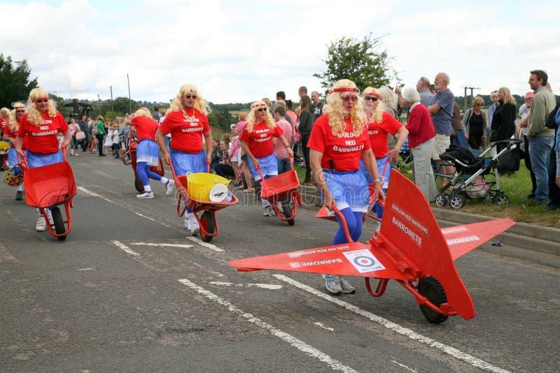 Parada de carnaval da vila fotos de stock royalty free